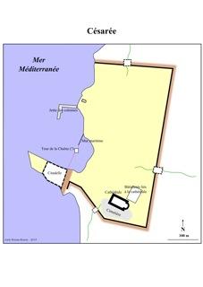 Image 15: plan de la ville de Césarée au XIIe siècle